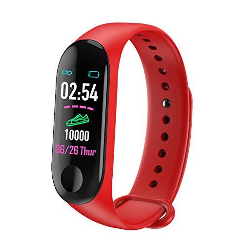 YOUQING Smart-Uhr-wasserdichter Bluetooth Sport intelligenter Armband Armband mit Herzfrequenz-Benachrichtigung Pedometer Armband Monitor Nachricht