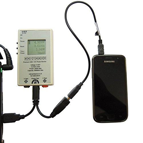 PortaPow Premium USB + DC Power Monitor Leistungsmesser / Leistungsmessgerät digitales Multimeter / Amperemeter V2 - 2