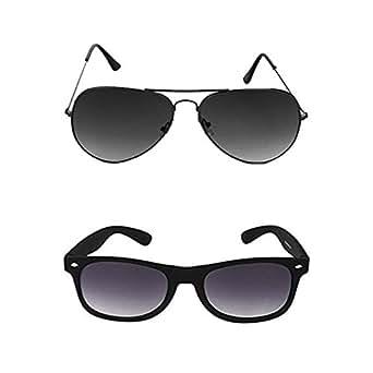 Mango People Aviator & Wayfarer Unisex Sunglasses-(MP-BKWAY-AVI|Black)