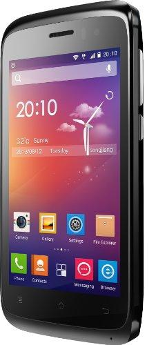 Phicomm CLUE Smartphone (10,2 cm (4 Zoll) Display, Dual-SIM, MP3-Player, 2 Megapixel Kamera, GPRS, Android) schwarz