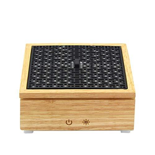 HOUYAZHAN 120 ml Zweig Kalten Nebel Luftbefeuchter Ultraschall Aroma Ätherisches Öl Diffusor für Büro Hause Schlafzimmer Wohnzimmer Yoga Spa (holzmaserung) (Farbe : Wood Grain) 120-v-ac-zweig