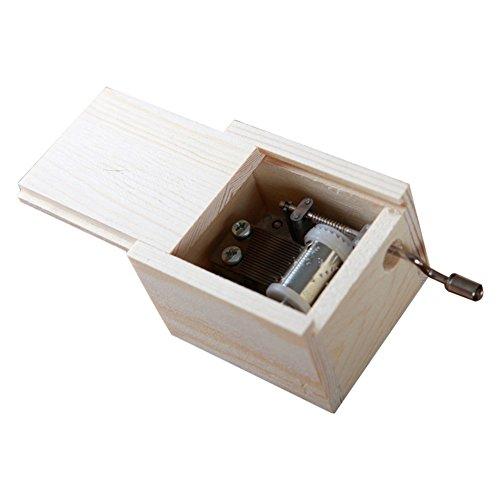 winnereco Holz Mini Musik Box DIY Mechanische Hand Kurbel Craft Music Box Bewegung -