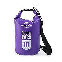 Naturehike Camping Ocean Pack Shoulders Drifting Package Wading Waterproof Bag Swimming Bag(Purple.10L)