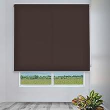 Comprar CORTINADECOR - Estor enrollable cortitrans para ventanas y puertas marrón 2135