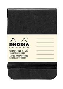 Rhodia WebnotePad Bloc de bureau (format bloc) 7,5 x 12 cm 192 pages Noir