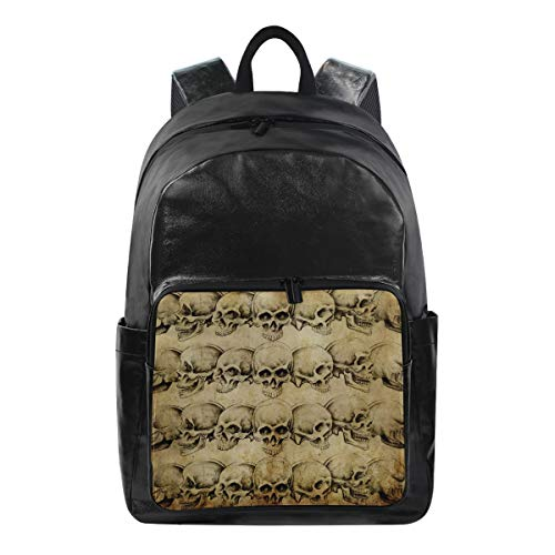 r Rucksack, Vintage-Design, Totenkopf, Halloween-Muster, Reisetasche, Computer-Tasche, Tagesrucksack für Männer, Frauen, Jungen, Mädchen ()