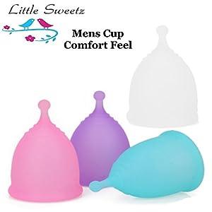 Little Sweetz MenstruationsTasse ** Soft Feel COMFORT – Größe S ** 100% medizinisches Silikon für bis zu 12 Stunden Rundum-Schutz (Lila)