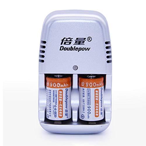 2 Teile/los 900 mAh CR2 Akku Set Lithium-Batterie DC 3,6 V Mit Schnellladegerät Mehrere Schutzsysteme - Lithium-batterie-ladegerät Cr2