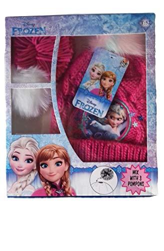 Disney cappello bambina frozen 3 pompons (fucsia, 52)