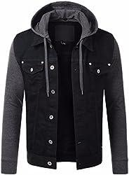 HASHHOB Mens Denim Jacket Jeans Jacket