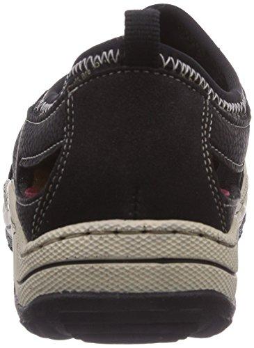 Rieker L0596, Sneakers basses femme Noir - Schwarz (schwarz/schwarz/schwarz / 01)