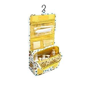 Trousse de Toilette Sac Cosmétique Trousse Maquillage Sac de Toilette Trousse de Voyage Grande Pliable Multifonction Étanche Compact Oxford avec Crochet Suspendu,Compartiments de Hmjunboys
