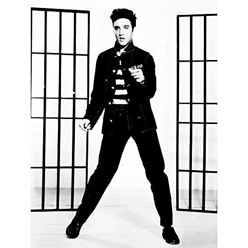 Wee Blue Coo LTD Music Vintage Photography Elvis Presley Jailhouse Rock King USA Art Print Poster Wall Decor Kunstdruck Poster Wand-Dekor-12X16 Zoll - Jailhouse Rock Poster
