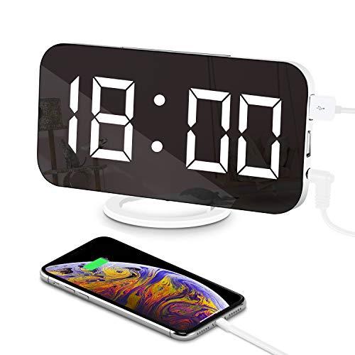 LED Reloj Despertador Espejo Digital Electrónico