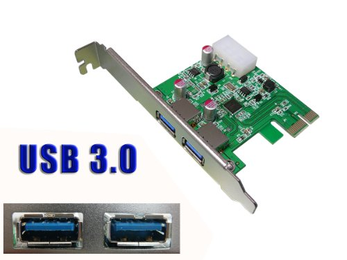 Intel Pci-usb (KALEA-INFORMATIQUE © Controleur PCI-EXPRESS-Karte (3. 0-2 USB ports USB 3.0 SUPERSPEED, Chipsatz NEC D720200/202, abwärtskompatibel zu USB 2.0)