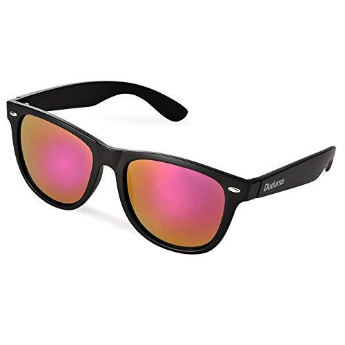 Duduma Wayfarer Gafas de Sol Reflectante Colors Revo Lentes de Espejo