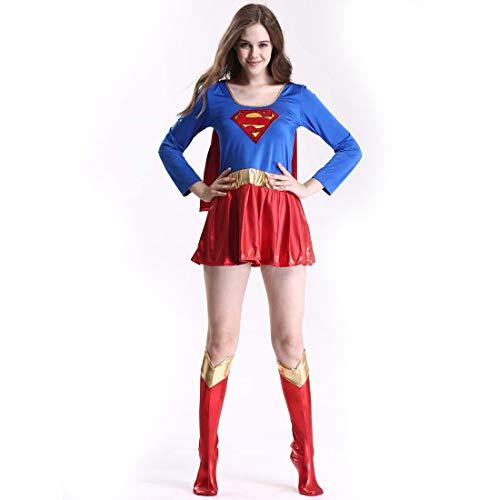 TTWL Weibliche Erwachsene Halloween Kostüm Sexy Superwoman Anzug Rollenspiel PU Leder Superman Kostüm XL (Kostüm Halloween Superwoman)