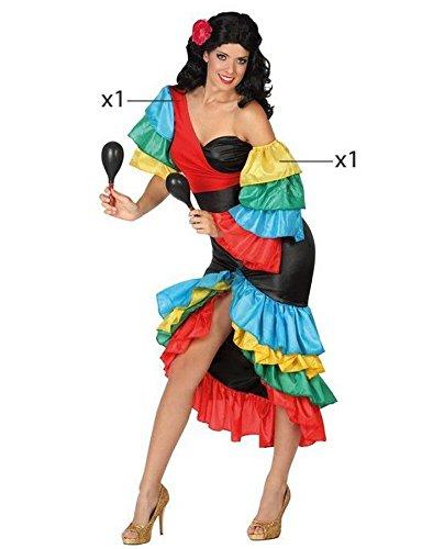Atosa 26863 - Samba, Damenkostüm, Größe 42/44, (Samba Kostüme Karneval)