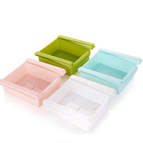 Ouneed - 1 Stücke Aufbewahrungsbox Klemm-Schublade für Kühlschrank Schublade Aufbewahrungsbox Kühlschrankbox Schublade Aufbewahrungskiste Gemüsefach Kühlfach Gemüseschale Fach - Binz Kühlschrank