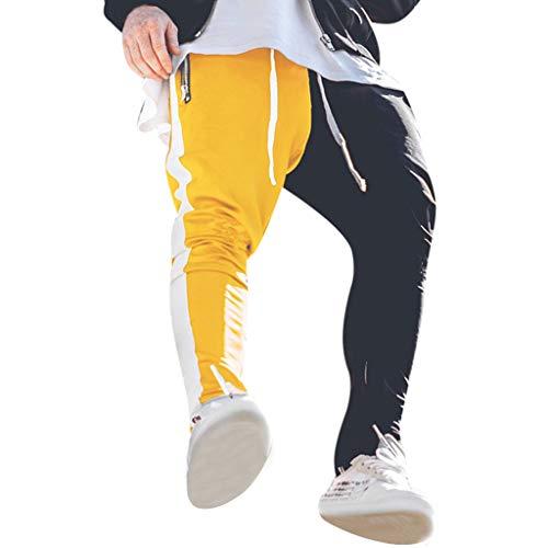 Vovotrade_abbigliamento Sweat Pants Pantaloni Uomo Lunghi Cargo con Tasche Laterali Tattici Militari Pantalone da Lavoro Pantaloni