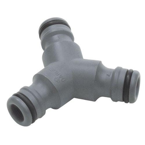 GARDENA Pièce en Y : connecteur pour dérivation de tuyau, raccordement dans le chemin du tuyau à la transition 13 mm (G 1/2) Tuyaux (934-50)