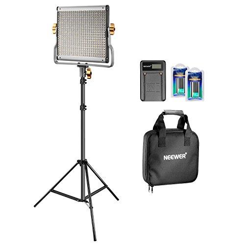 Neewer LED Licht verstellbar zweifarbig und U-Montage aus robustem Metall mit LCD-DisplayPanel für Fotografie Video Drehung (480 LED Set II) - Lcd-video