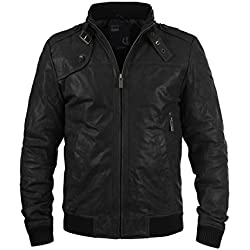 SOLID Dash Chaqueta de cuero, Talla:XL;Color:Black (9000)