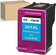 ATOPolyjet - Cartucho de tinta remanufacturado para HP 301XL 301 XL con HP Deskjet 1000 2050 2510 2540 3000 30