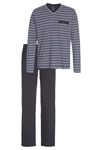 Smith 2-teiliger Pyjama für Herren mercerisiert dunkelblau,XL
