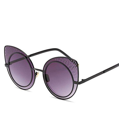 2d746a031e Luziang Las señoras Gafas de Sol de Tendencia Europea y Americana Estilo  Ojo de Gato Gafas de Sol Retro Color Brillante,Conducci