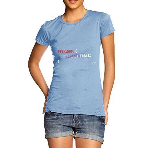 TWISTED ENVY  Damen T-Shirt Himmelblau