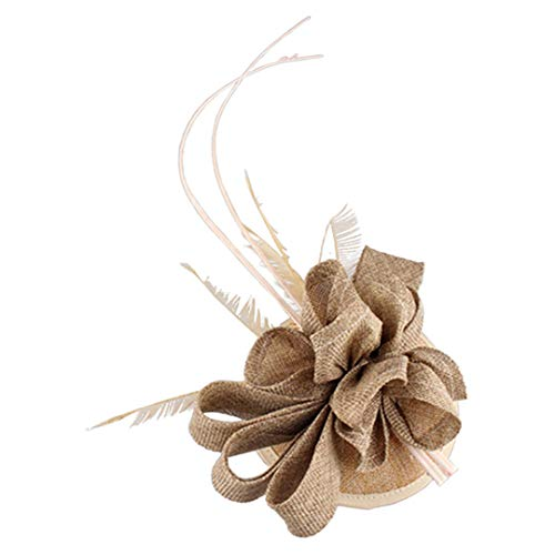 OLADO Kentucky-Derby-Hüte der Frauen Mode-Sinamay-Fedora-Hochzeit Fascinator