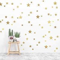 Creative Gold Stars Wall Stickers Bedroom Nursery Baby Room Home Decor Vinyl Little Stars Wall Decals DIY Wallpaper Mural Art