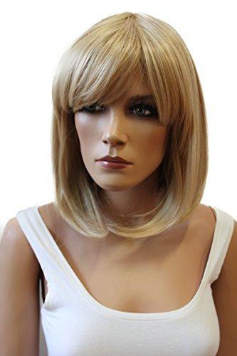 PRETTYSHOP Perücke WIG Bob Kurzhaar glatt aus hitzbeständige Kustfaser wie Echthaar div. Farben (blonde mix 27T613 WB7)