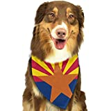 deyhfef Flag of Arizona Scarf Pet/Fit Dog Bandana Scarf