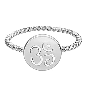 Chandler One Piece Gold Silver Plated Om Yoga Meditation Ring Fashion for Women Wedding Gift Rings