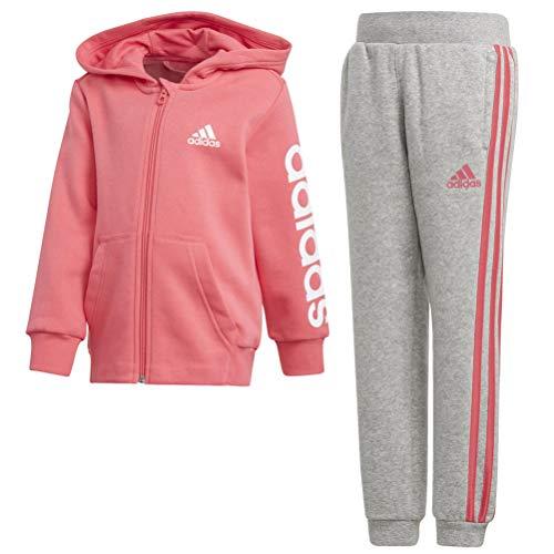 Adidas lk hojo ts tuta, bambini, bambino, dj1510, rosa/bianco (super), 134