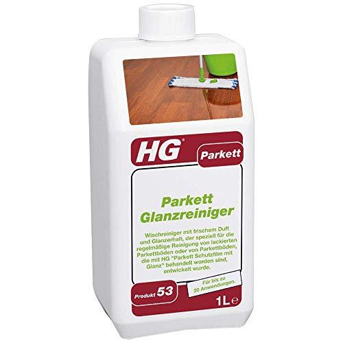 HG Parkett Glanz Reiniger 1L - ein frisch duftender Parkett Glanz, der speziell zur regelmäßigen Reinigung von Parkettböden aller Art entwickelt worden ist.