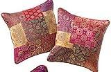 Fair Trade Brokat Kissenbezug Patchwork Multi Farbe 40cm x 40cm