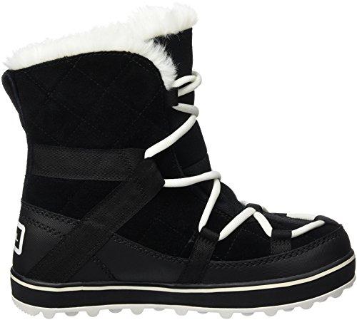 Sorel Glacy Explorer Shortie, Bottes de Neige Femme Noir (Black 010)