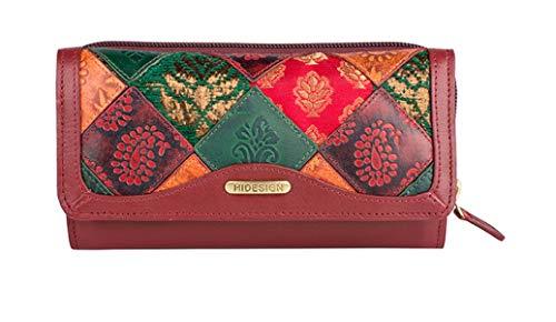Hidesign Damen dreiteilige Geldbörse - rot - Einheitsgröße -