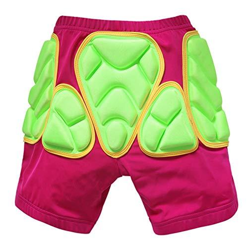 Z&X Pantaloncini Bambini Imbottiti per Bambini 3D Protezioni per Pattinaggio su Pista da Sci Snowboard Hockey in sartiame Ciclismo Pantaloni Corti,Pink,XXS