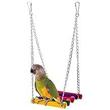 Pájaro Mascota Juguete, SMARTLADY Loro Cacatúa Juguete Oscilación Hamaca en Casas