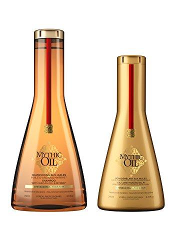 L'Oreal Professional Professionel Mythic Oil Shampoo 250ml, Conditioner 200ml Duo Thick Hair