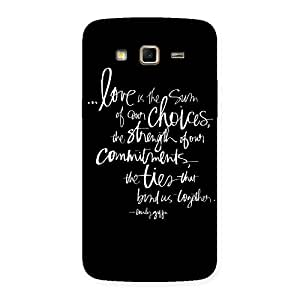 Cute Quote of Love Multicolor Back Case Cover for Samsung Galaxy Grand 2