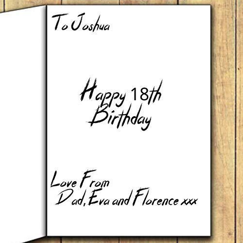 Mark Knopfler - Dire Straits 3 - Carte de v?ux dédicacée pour toute occasion (anniversaire, Noël, etc.) - Personnalisation complète disponible à l'intérieur et à l'extérieur