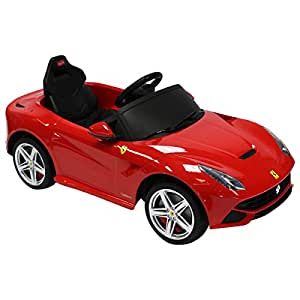 voiture lectrique mod le ferrari f12 berlinetta enfant rouge jeux et jouets. Black Bedroom Furniture Sets. Home Design Ideas