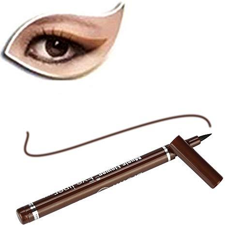 Cwemimifa Perfect Stay Smokey Duo Eyeshadow Eyeliner Pen,Beauty Black Eyeliner Liquid Eyeliner Pen Pencil Make-up Kosmetik Neu,Kaffee -