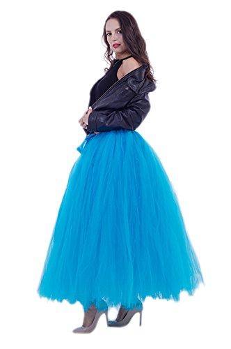 Honeystore Damen's Rock Tutu Tuturock Tütü Petticoat Tüllrock mit Gummizug für Karneval, Party und Hochzeit Blau One (Kostüme 2017 Sevens)