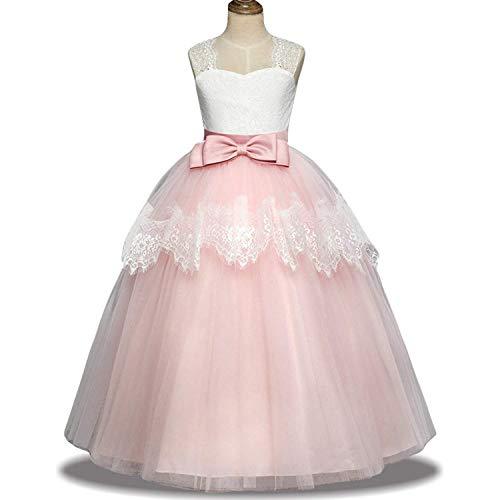 0c59e7e528 LZH Vestido de Fiesta Niñas Cordón boda Princesa Vestidos de Novia Cóctel  ...